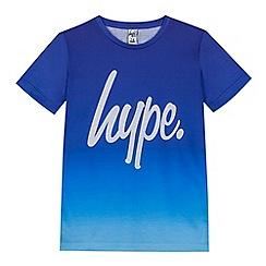 Hype - Boys' navy ombre logo print t-shirts