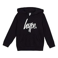 Hype - Boys' navy logo print hoodie