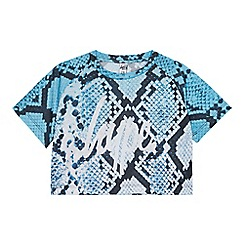 Hype - Kids' Mulitcoloured Snakeskin Print Crop Top