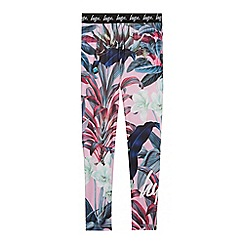 Hype - Girls' Multicoloured Tropical Floral Print Leggings