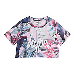 Hype - Girls' Multicoloured Tropical Floral Print Crop Top