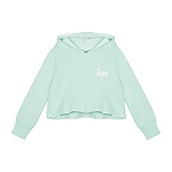 Hype - Girls' Green Cropped Peplum Hoodie