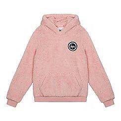 Hype - Girls' Pink Fleece Hoodie