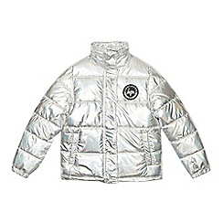 Hype - Girls' Silver Metallic Puffer Jacket