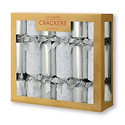 debenhams pack of 12 luxurious silver foliage crackers