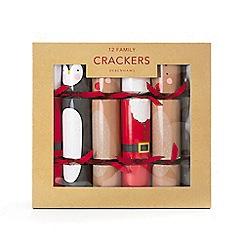 Debenhams - Pack of 12 Christmas Family Crackers