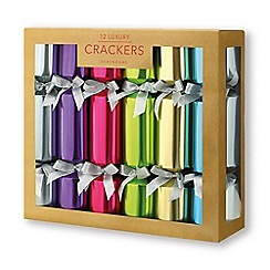 Debenhams - Pack of 12 Luxurious Bright Foil Crackers