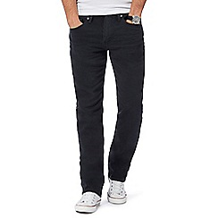 Levi's - Black '514' twill trousers