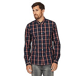 Levi's - Navy checked regular fit shirt