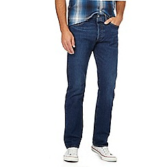 Levi's - Big and tall blue '501' mid wash straight leg jeans