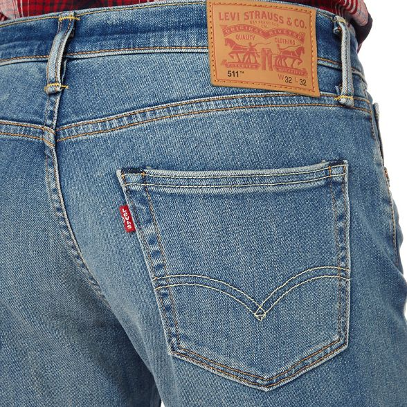 tall Levi's mid wash '511' and jeans Big slim blue rzpzE