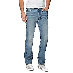 Levi's - Mid blue '501' light wash jeans