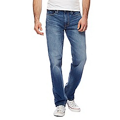 Levi's - 514 straight blue mid wash jeans