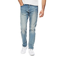 Levi's - Black mid wash '502®' tapered jeans