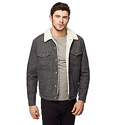 Levi's - Grey denim sherpa lined jacket