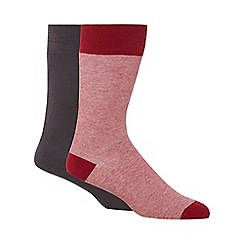 Levi's - Pack of two grey plain and red striped socks