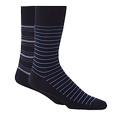 Levi's - Pack of two navy striped socks