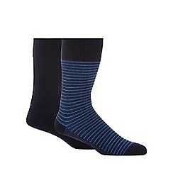 Levi's - Pack of two blue stripe socks