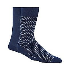 Levi's - Blue plain and patterned socks