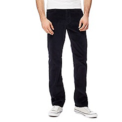 Wrangler - Big and tall navy 'arizona' corduroy straight leg trousers