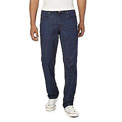 Wrangler - Big and tall navy 'Arizona Nightfall' straight fit jeans