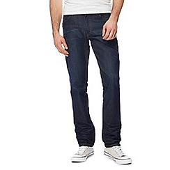 Wrangler - Big and tall dark blue 'greensboro' straight jeans