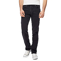 Wrangler - Big and tall black 'greensboro' straight jeans