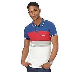 Wrangler - Multi coloured striped polo shirt