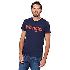Wrangler - Navy logo print t-shirt