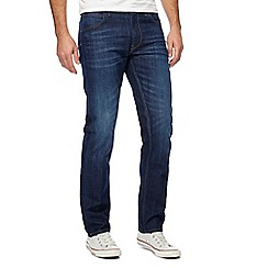 Lee - Blue mid wash 'Daren Hudson' straight leg jeans
