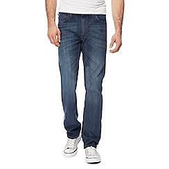 Lee - Blue 'Daren' mid wash straight leg jeans