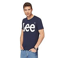 Lee - Navy logo print t-shirt