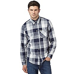 Lee - Dark blue checked regular fit shirt