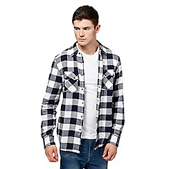 Lee - Black and white checked shirt