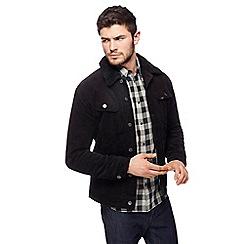 Lee - Black corduroy sherpa jacket