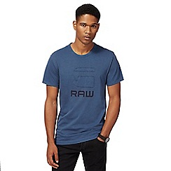 G-Star - Blue logo applique t-shirt