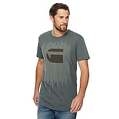 G-Star - Khaki embroidered logo t-shirt