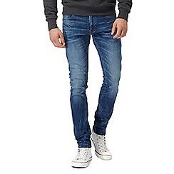 G-Star - Blue mid wash '3301' super slim jeans