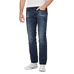 G-Star - Blue vintage wash '3301' straight jeans