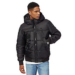 G-Star - Black padded hooded bomber jacket