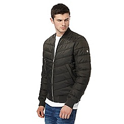 G-Star - Khaki quilted bomber jacket