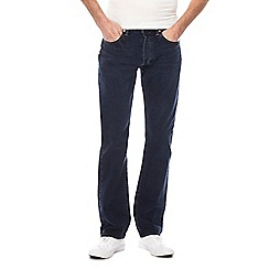 Levi's - Big and tall blue dark wash '501®' straight jeans