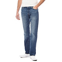 Levi's - Big and tall blue mid wash '501®' straight leg jeans