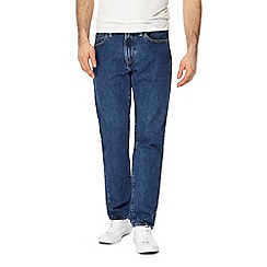 Levi's - Blue mid wash '502®' tapered jeans