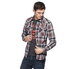 Levi's - Black and red checked 'Barstow' western shirt