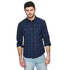 Levi's - Blue checked western shirt