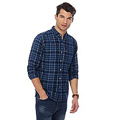 Levi's - Dark blue checked print long sleeve shirt