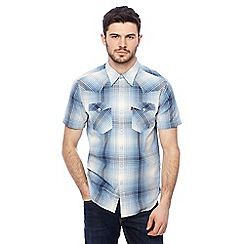 Levi's - Blue short sleeve checked shirt
