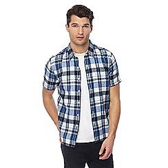 Levi's - Blue checked 'Sunset' short sleeve shirt