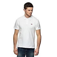 Levi's - White logo applique polo shirt
